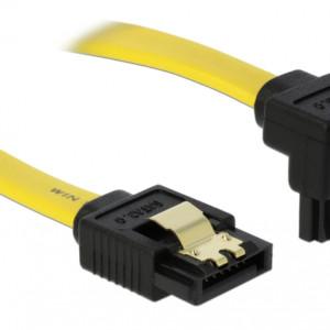 DELOCK Καλώδιο SATA III 7-pin σε 7-pin 90° 82482