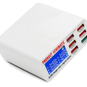 USB φορτιστής 6 θέσεων με LCD monitor BST-U3
