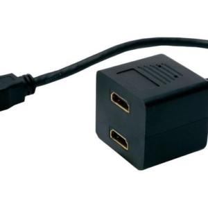 POWERTECH HDMI Splitter 19pin male / 2x Female Gold