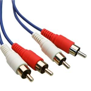 POWERTECH Καλώδιο 2x RCA Male σε 2x RCA Male CAB-R003
