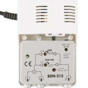 BENSAT εσωτερικός ευρυζωνικός ενισχυτής κεραίας TV BEN-215