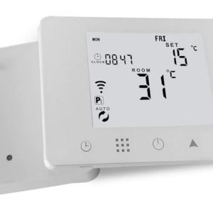 HYSEN Έξυπνος ασύρματος RF θερμοστάτης καλοριφέρ HY09RF-WIFI