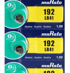 MURATA Αλκαλικές μπαταρίες ρολογιού LR41 MR-LR41