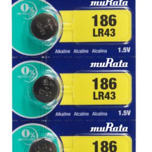 MURATA Αλκαλικές μπαταρίες ρολογιού LR43 MR-LR43