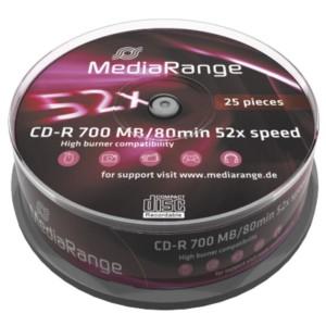 MEDIARANGE CD-R 52x 700MB/80min Cake 25τμχ