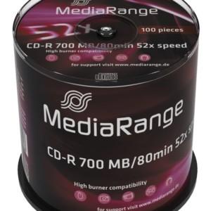 MEDIARANGE CD-R 52x 700MB/80min Cake 100τμχ