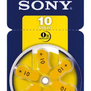 SONY μπαταρίες ακουστικών βαρηκοΐας PR10