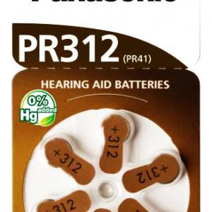 PANASONIC μπαταρίες ακουστικών βαρηκοΐας PR312