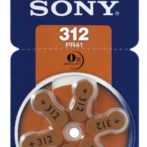 SONY μπαταρίες ακουστικών βαρηκοΐας PR312