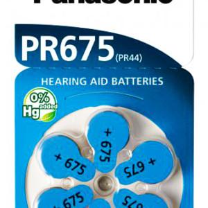 PANASONIC μπαταρίες ακουστικών βαρηκοΐας PR675