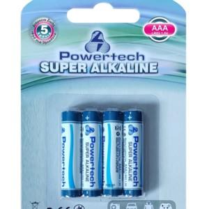 POWERTECH  Super Αλκαλικές μπαταρίες AAA LR03