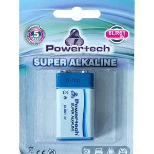 POWERTECH SUPER Αλκαλική μπαταρία 6LR61