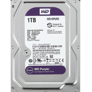 "WD σκληρός δίσκος 3.5"" Purple Surveillance 1TB"