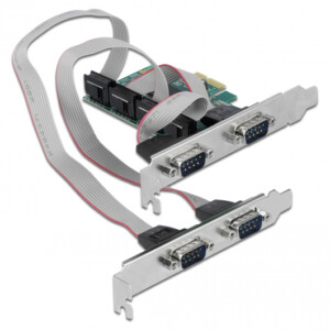 POWERTECH κάρτα επέκτασης PCIe σε 4x Serial DB9 SLOT-031