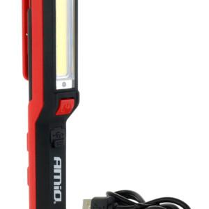 AMIO LED φακός WT04 με μαγνητική βάση και κλιπ