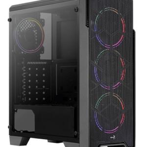 AEROCOOL PC case mid tower Ore FRGB-G-BK-V1
