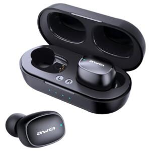 AWEI earphones με θήκη φόρτισης T13